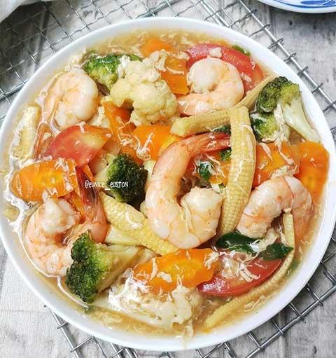 resep masakan capcay siram