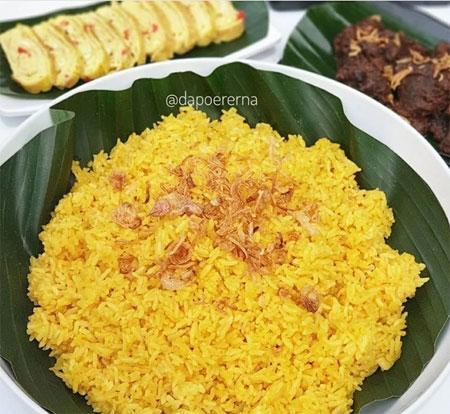 cara membuat nasi kuning rempah