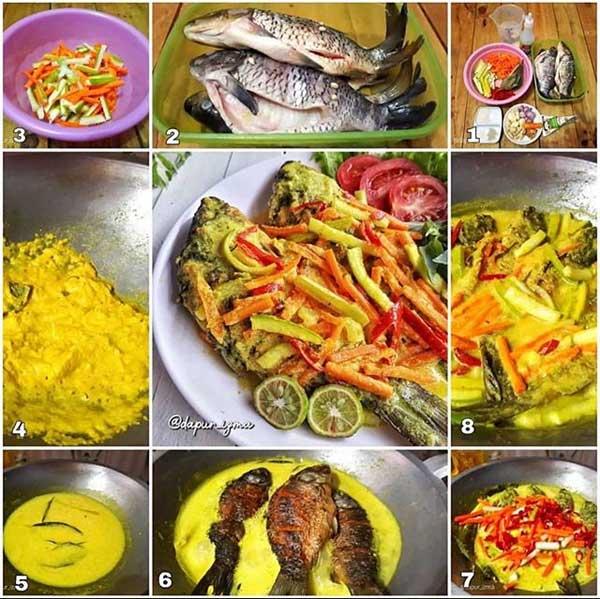 resep pesmol ikan mas praktis enak  super gurih menggugah selera Resepi Ikan Bawal Bakar Teflon Enak dan Mudah