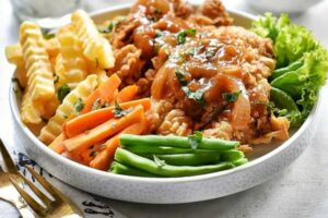 resep crispy chicken steak
