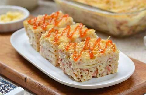 resep long macaroni schotel