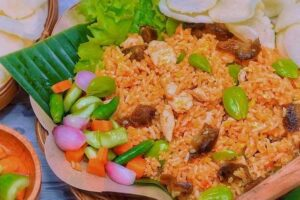 resep nasi goreng pete ampela ayam