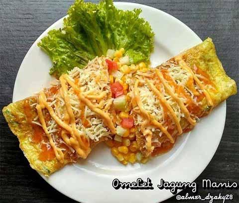 resep omelet jagung manis