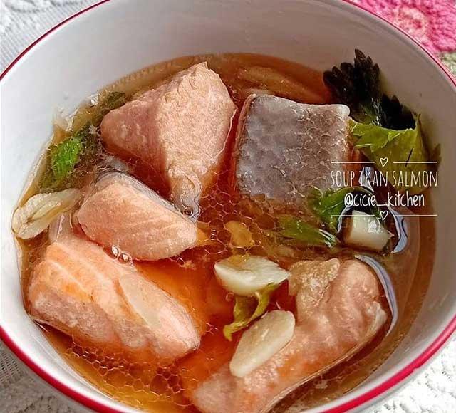 resep sup ikan salmon