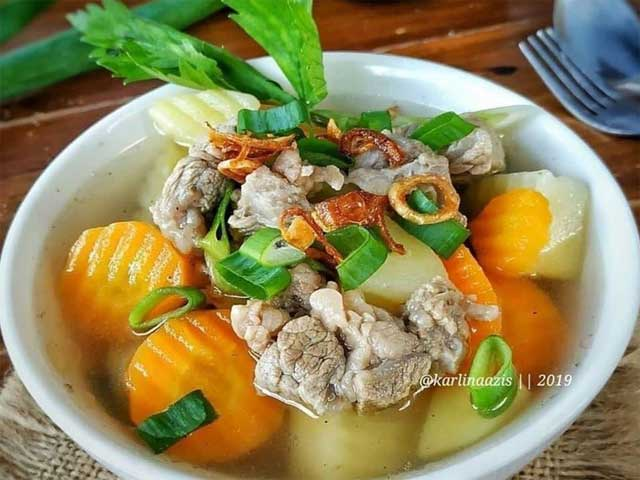 resep sayur sop bening enak super gurih  menyegarkan Resepi Sup Ayam Restoran Enak dan Mudah