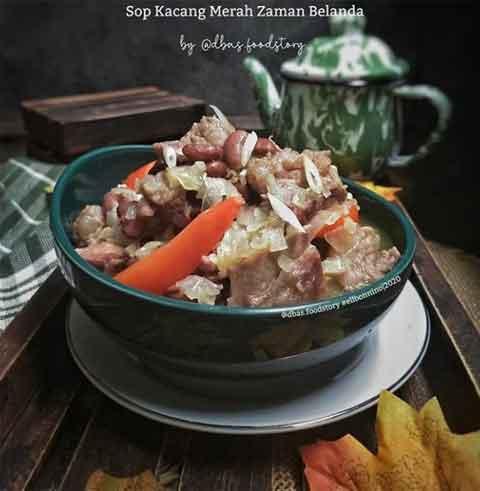resep sop kacang merah belanda