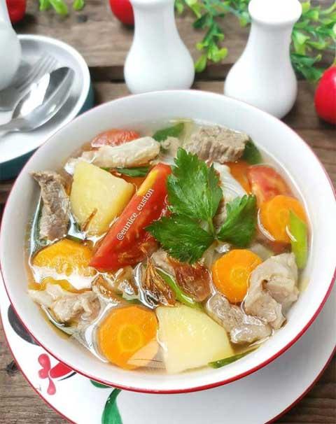 resep sup daging sapi